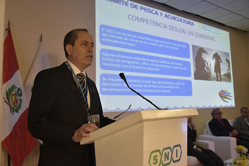 Alfonso Miranda, presidente del Comité de Pesca y Acuicultura de la S.N.I.