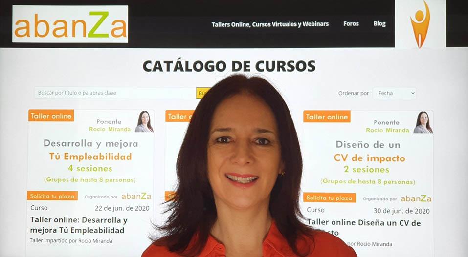 Este taller online esta a cargo de Rocío Miranda, gerente de abanZa