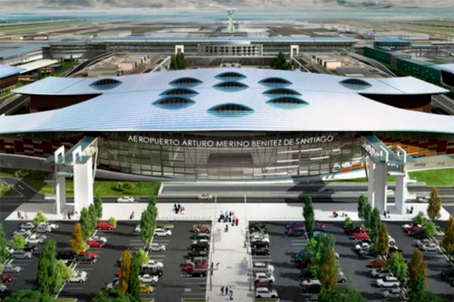 """El aeropuerto Arturo Merino Benítez de Santiago es nominado como """"Aeropuerto Líder de Sudamérica 2020"""" en los World Travel Awards."""