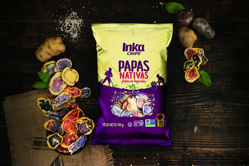Inka Crops lanza al mercado peruano snacks de papas nativas libre de octógonos