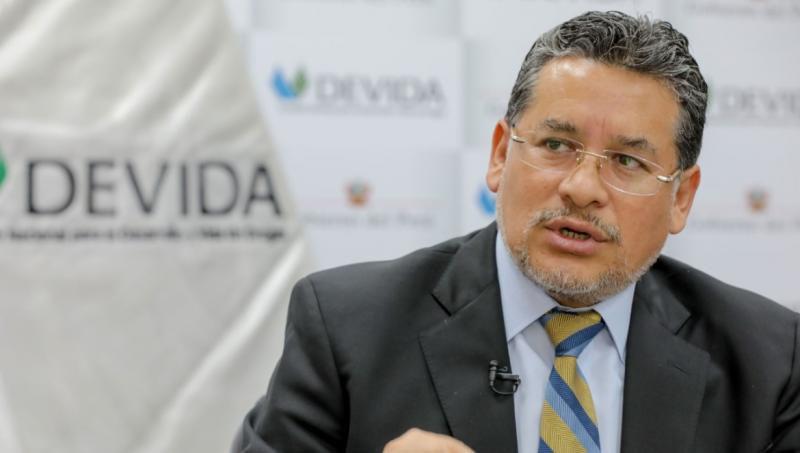 Presidente ejecutivo de Devida, Rubén Vargas