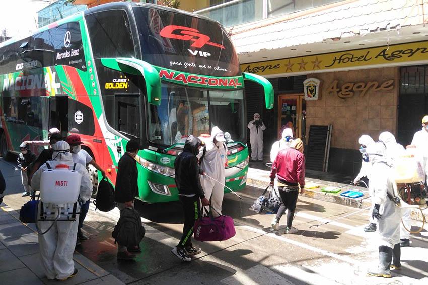 El transporte interprovincial ha vuelto a operar