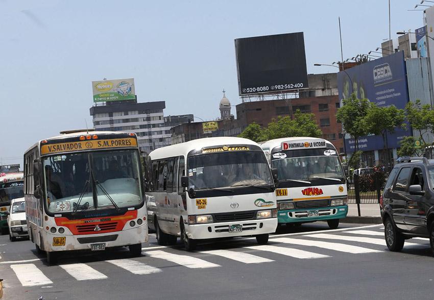Suspenderán transporte en Lima y Callao el jueves 3 de septiembre