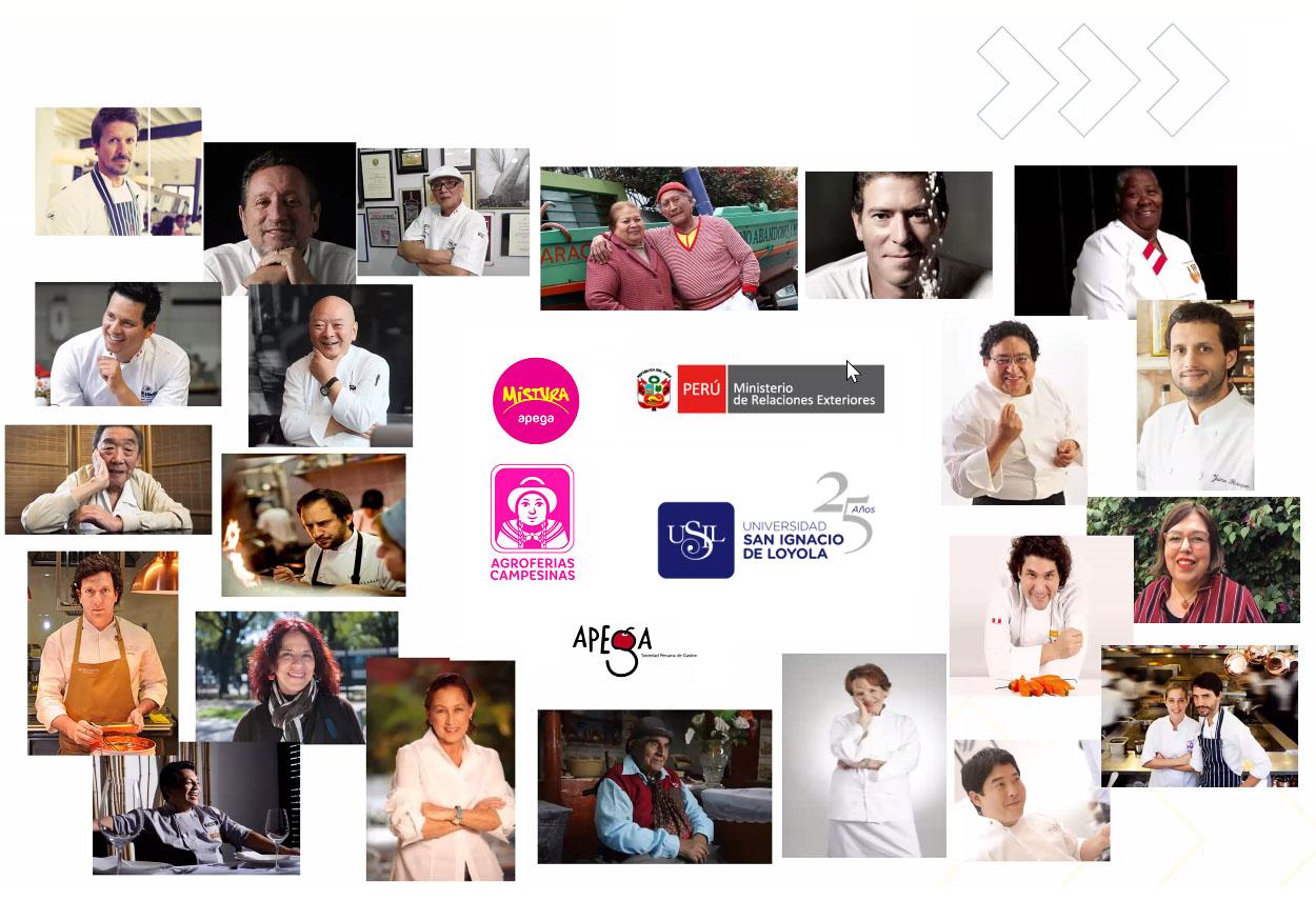 Chefs representantes de la gastronomía peruana