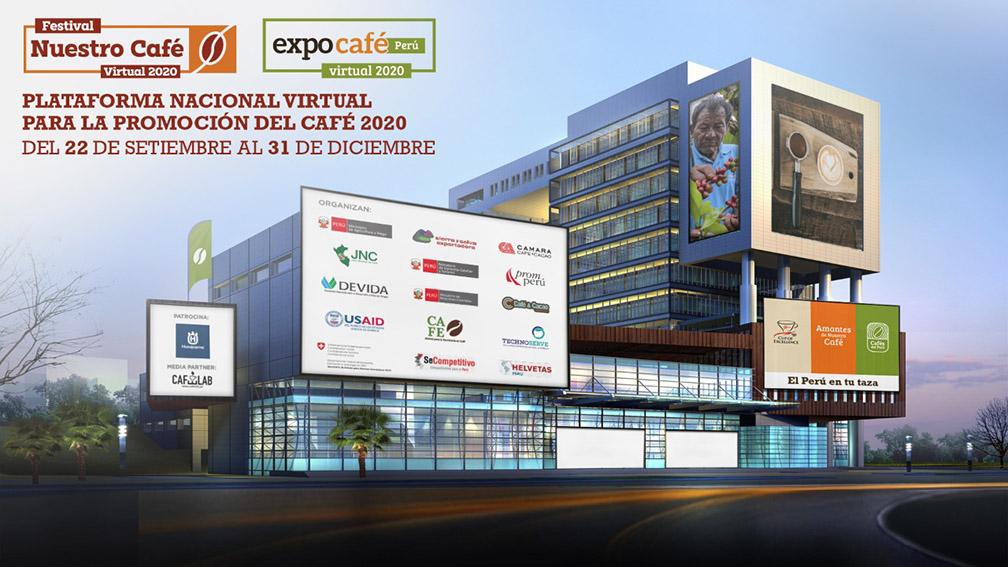 La Plataforma virtual reunirá dos grandes eventos: por un lado, el naciente Festival Nuestro Café Virtual 2020 y Expo Café Perú,