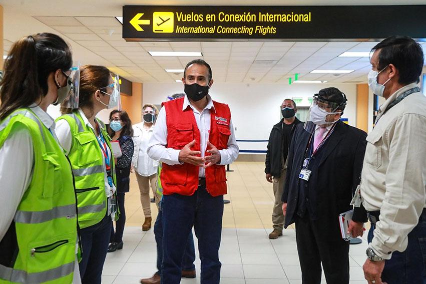 El MTC hizo una supervisión a los procedimientos e infraestructura del aeropuerto Jorge Chávez