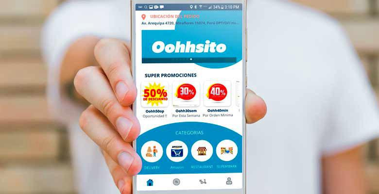 Aplicativo de delivery Oohhshito