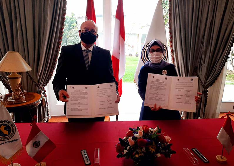 Ahora Perú suscribió un convenio de cooperación con la Indonesian Hotel and Restaurant Association (PHR), gremio homólogo de Indonesia.