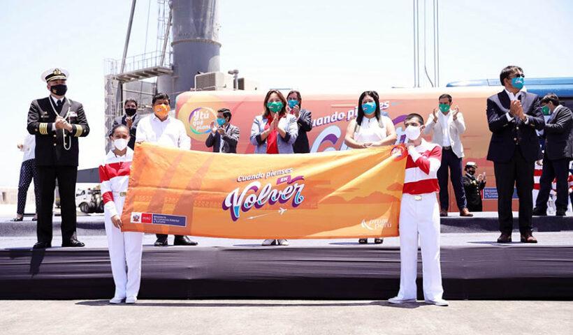 La titular del Mincetur, destacó la labor que inicia desde hoy el Buque Escuela a Vela B.A.P. Unión dando a conocer lo mejor del Perú