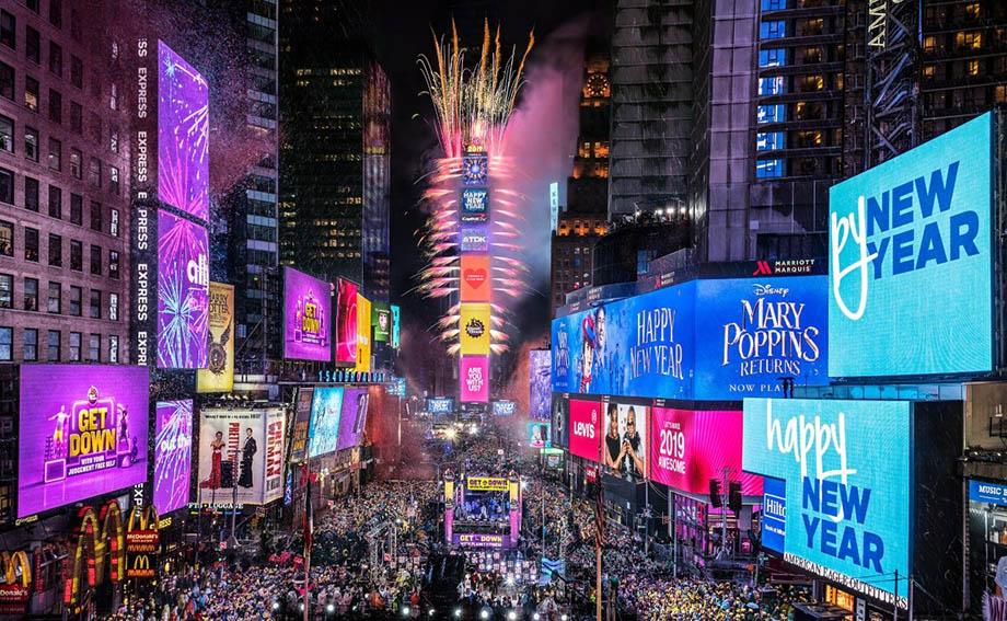 Fiesta de Año Nuevo en Times Square