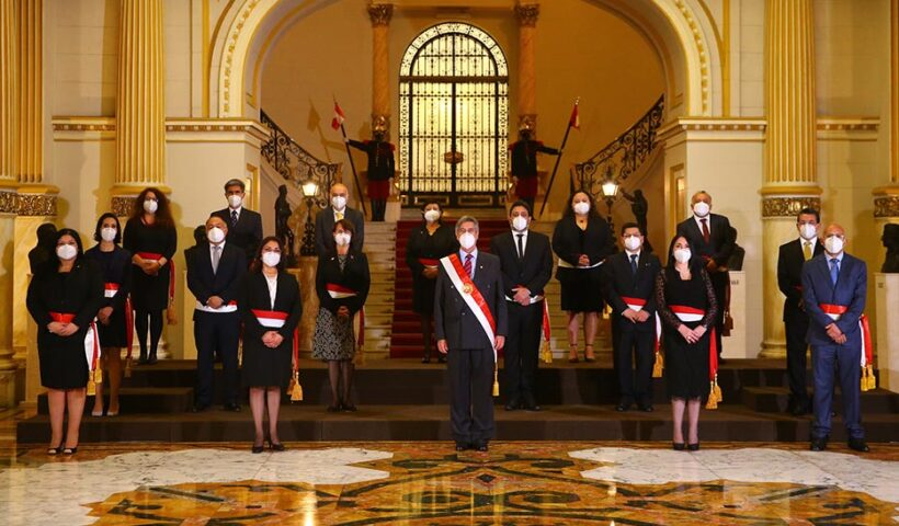 Sagasti tomó juramento al nuevo Gabinete Ministerial Bermúdez Valdivia