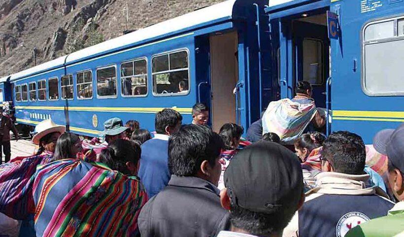 PeruRail pide se habilite 100% de aforo en trenes a Machupicchu