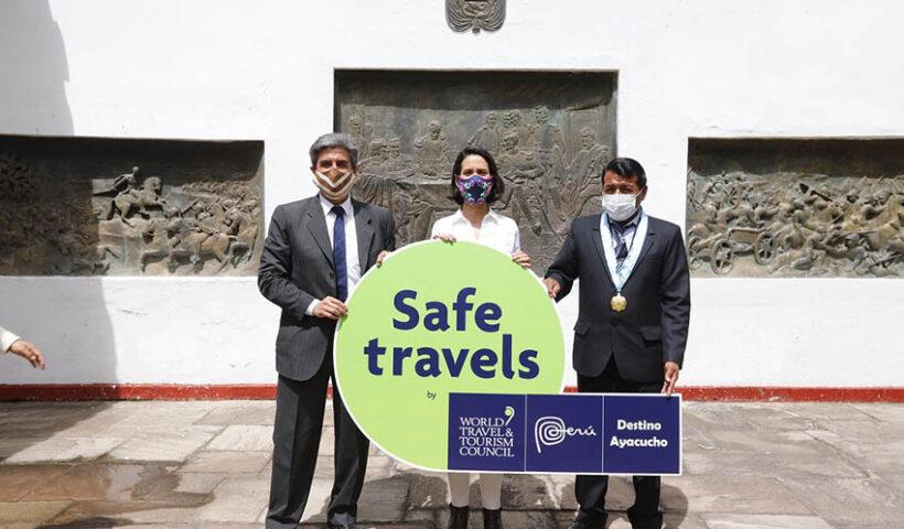 Destino Ayacucho recibe sello Safe Travels
