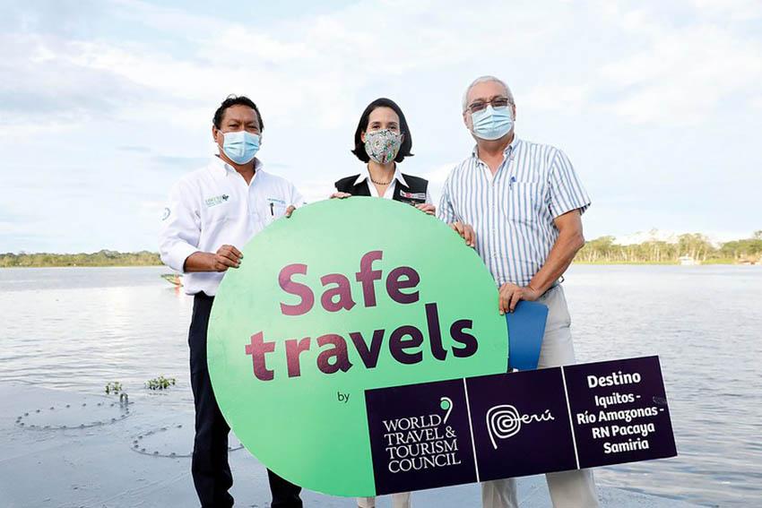 Mincetur entregó el Sello internacional Safe Travels al destino turístico Iquitos – Río Amazonas – Reserva Nacional Pacaya Samiria