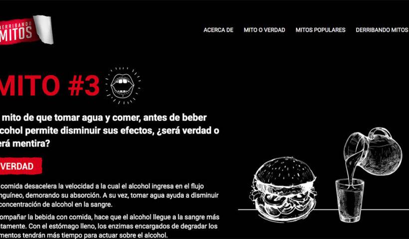 """Campaña de concientización sobre el consumo nocivo de alcohol, """"Derribando Mitos"""""""