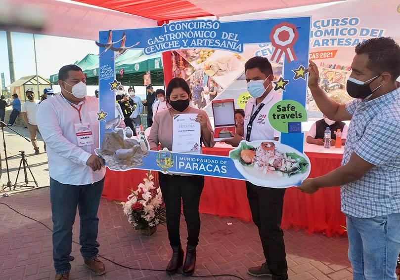 """Paracas organizó """"I Concurso Gastronómico de Ceviche y Artesanía"""""""