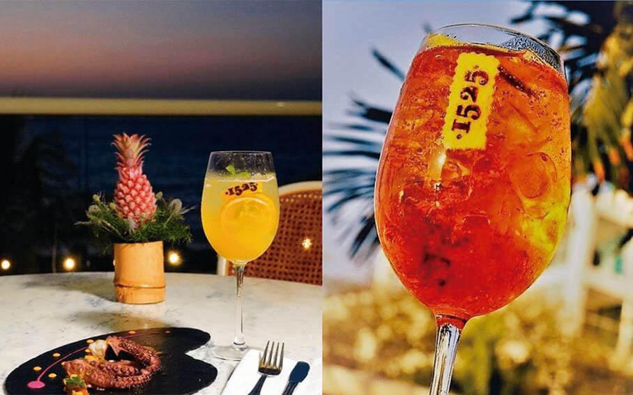Cocteles de 1525 Restaurante—en Santa Marta Marriott Resort Playa Dormida
