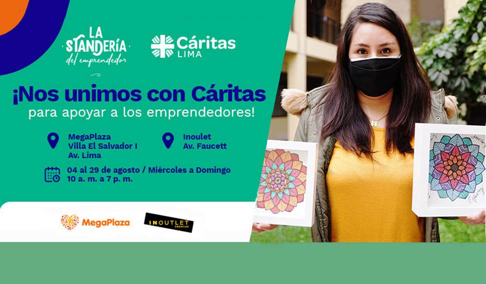 """""""La Standería del Emprendedor"""" de Parque Arauco se une a Cáritas Lima"""