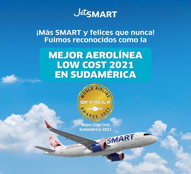 JetSMART es premiada como la mejor low-cost de Sudamérica